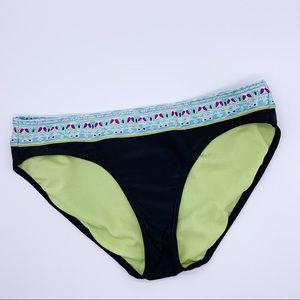 ATHLETA bikini bottoms, M. Black with mosaic.